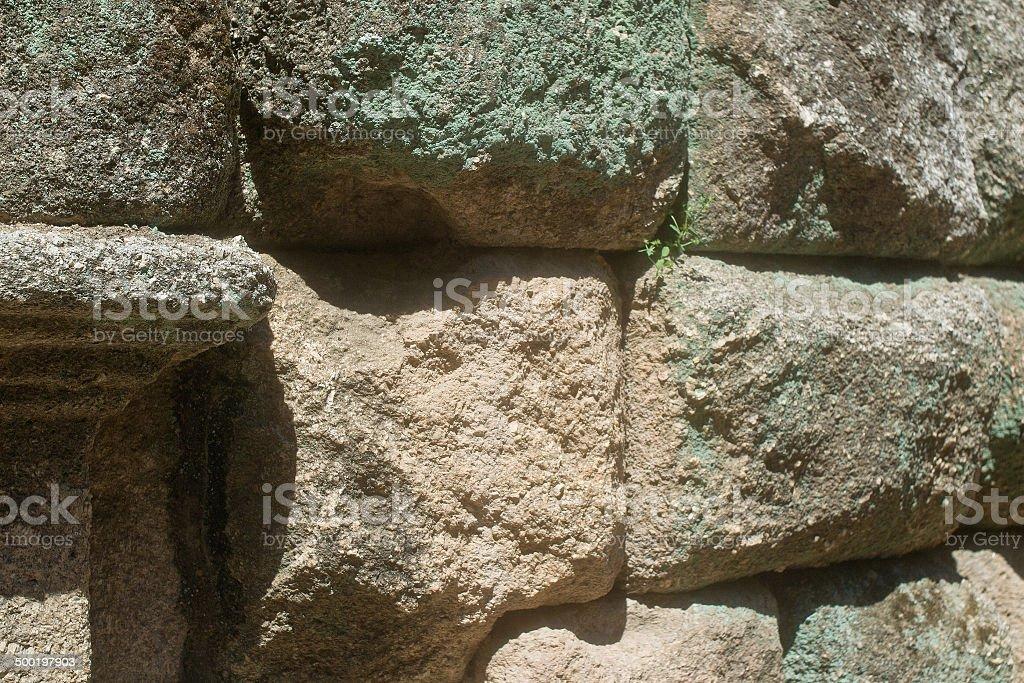 textura con sillares y angulo romano stock photo