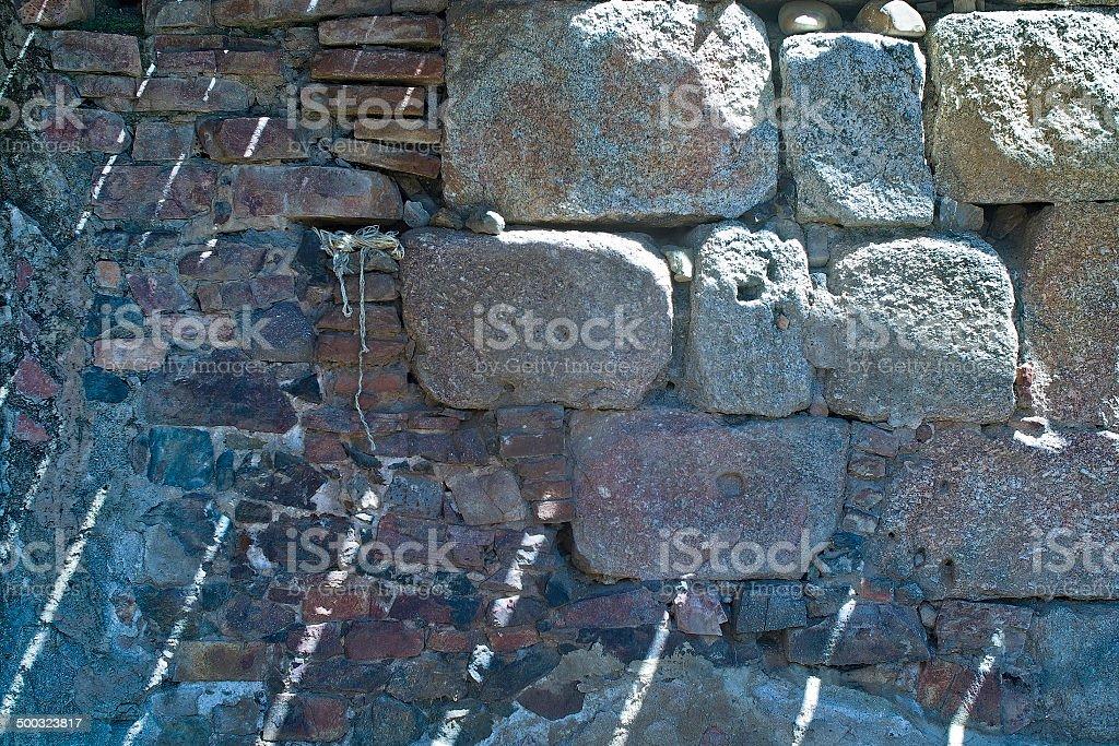 textura con sillares y ladrillos stock photo