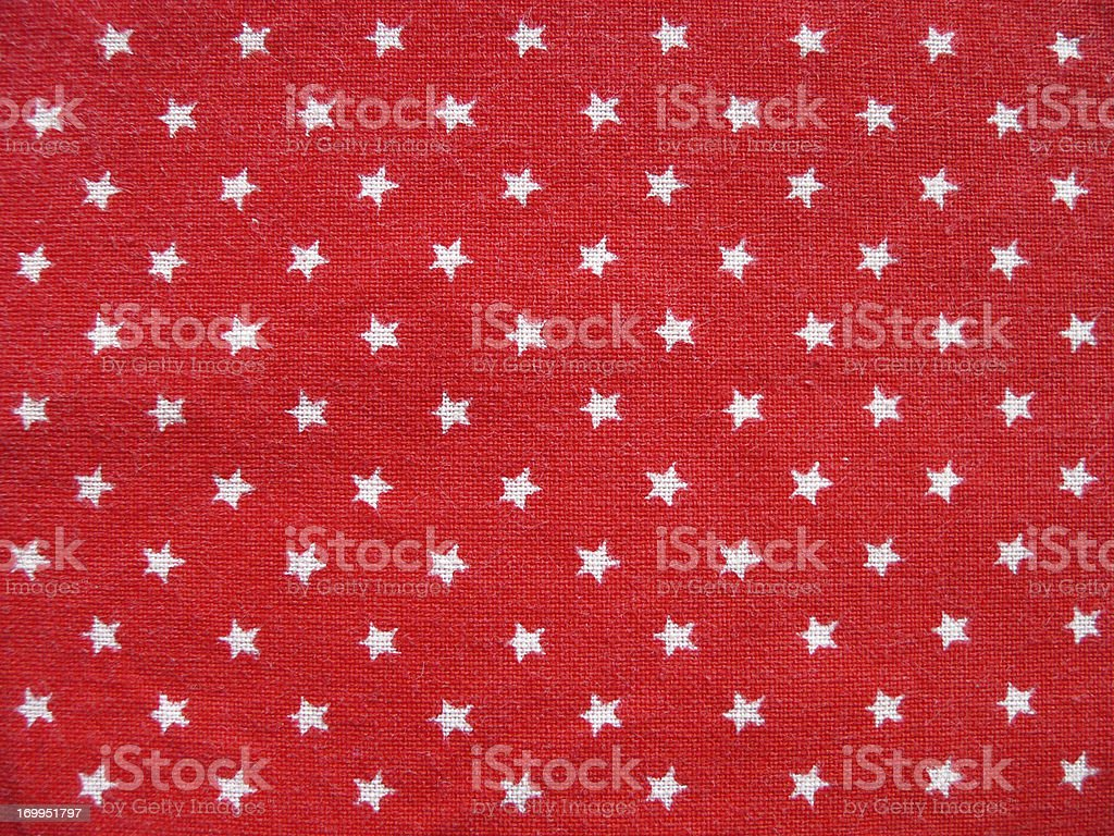 Texture 1 - Red cotton fabric with white stars stock photo