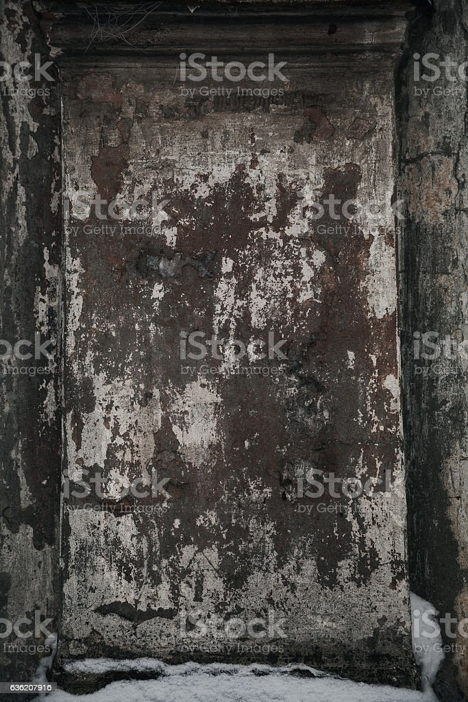 Texture a dark dingy stone surface. Shabby grungy background stock photo