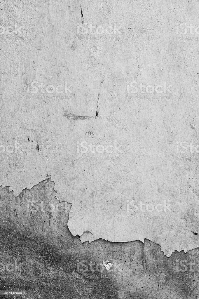 Texture background of old wall, black and white. The peeling stock photo