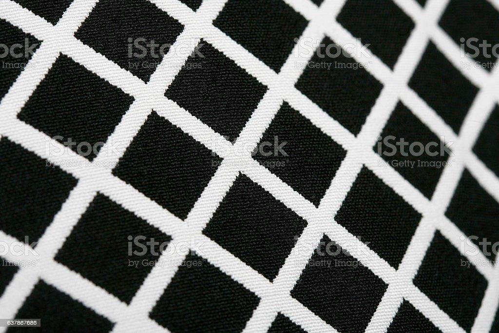 Texture Black and White Fashion Patterns with Geometric design textile stock photo