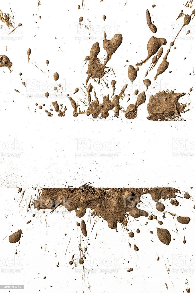 Texture clay moving in white background stock photo