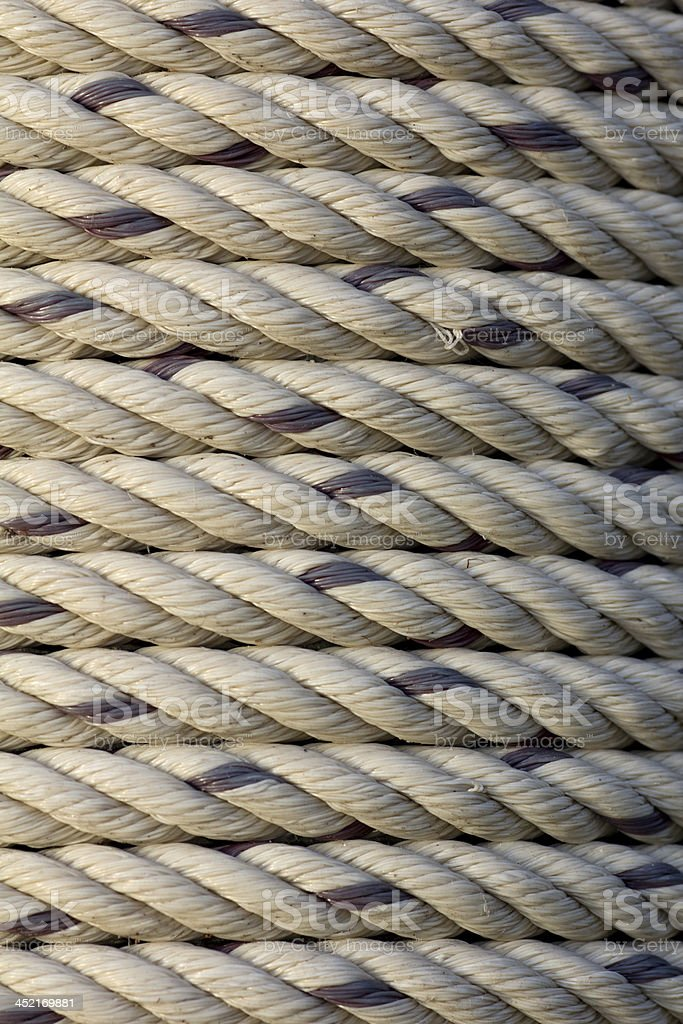 texture closeup Coil rope royalty-free stock photo