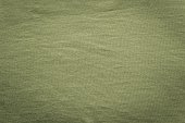 texture cotton fabric of green gray color