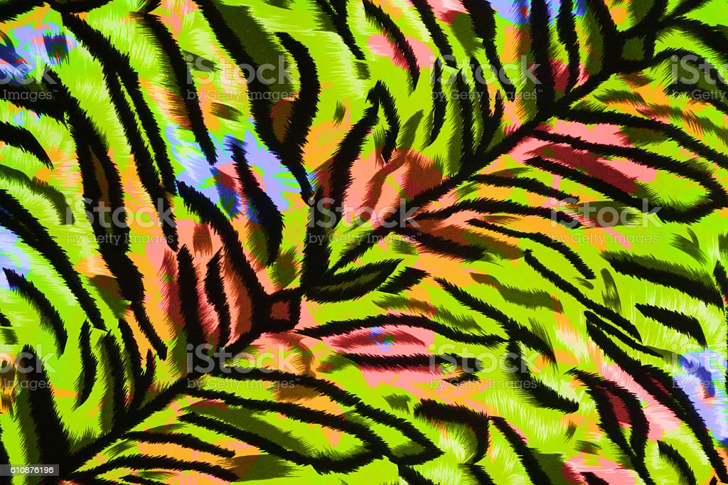 Texture fabric of tiger for background stock photo