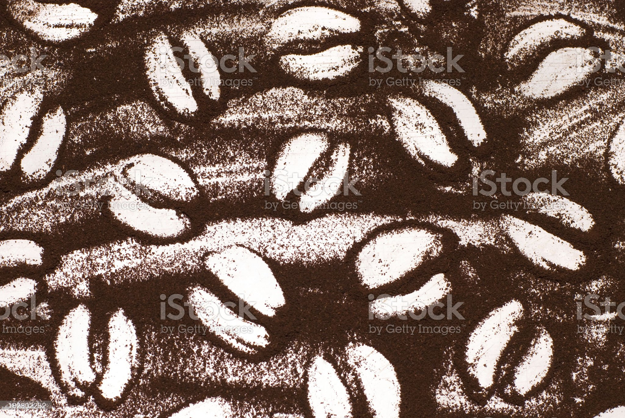 texture from the ground coffee royalty-free stock photo