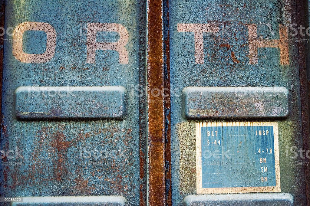 Texture - Industrial Blue Steel royalty-free stock photo