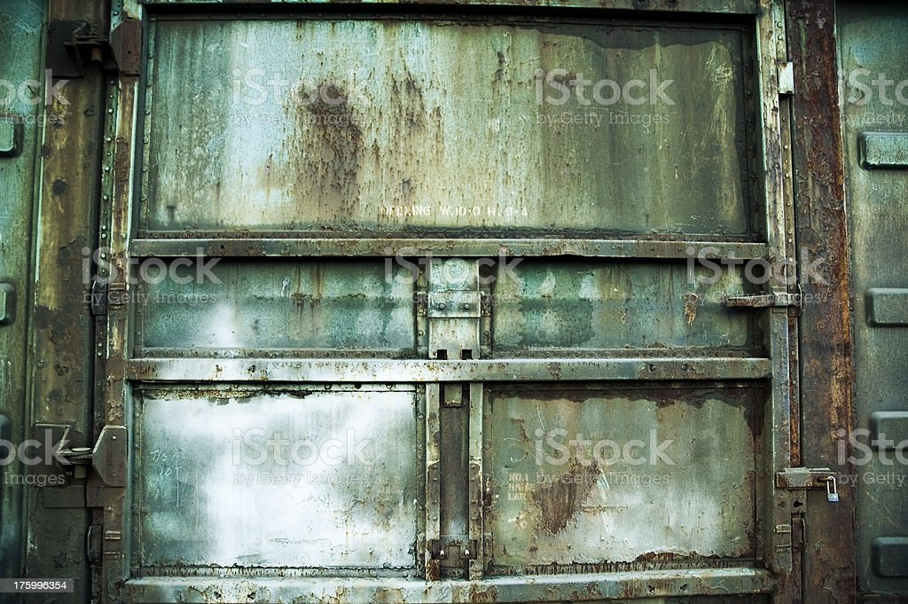 Texture - Industrial Steel Doors royalty-free stock photo