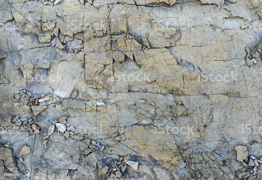 texture layers metamorphic rocks stock photo