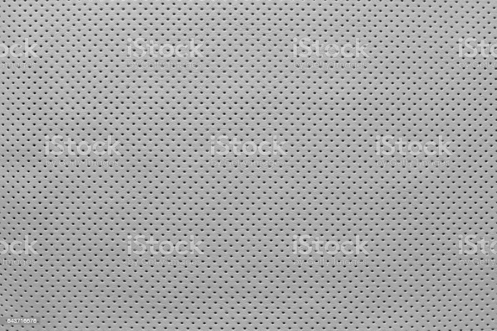 texture leather of pale gray color with outer side stock photo