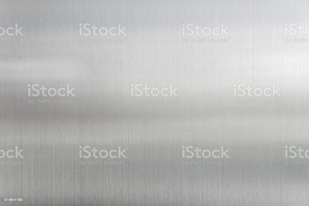 texture metal background of brushed steel plate stock photo