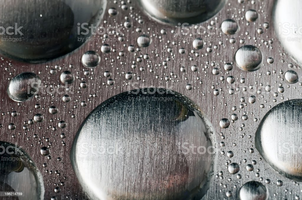 Texture metal with drops water. royalty-free stock photo