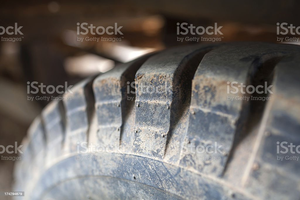 texture of a car tyre royalty-free stock photo
