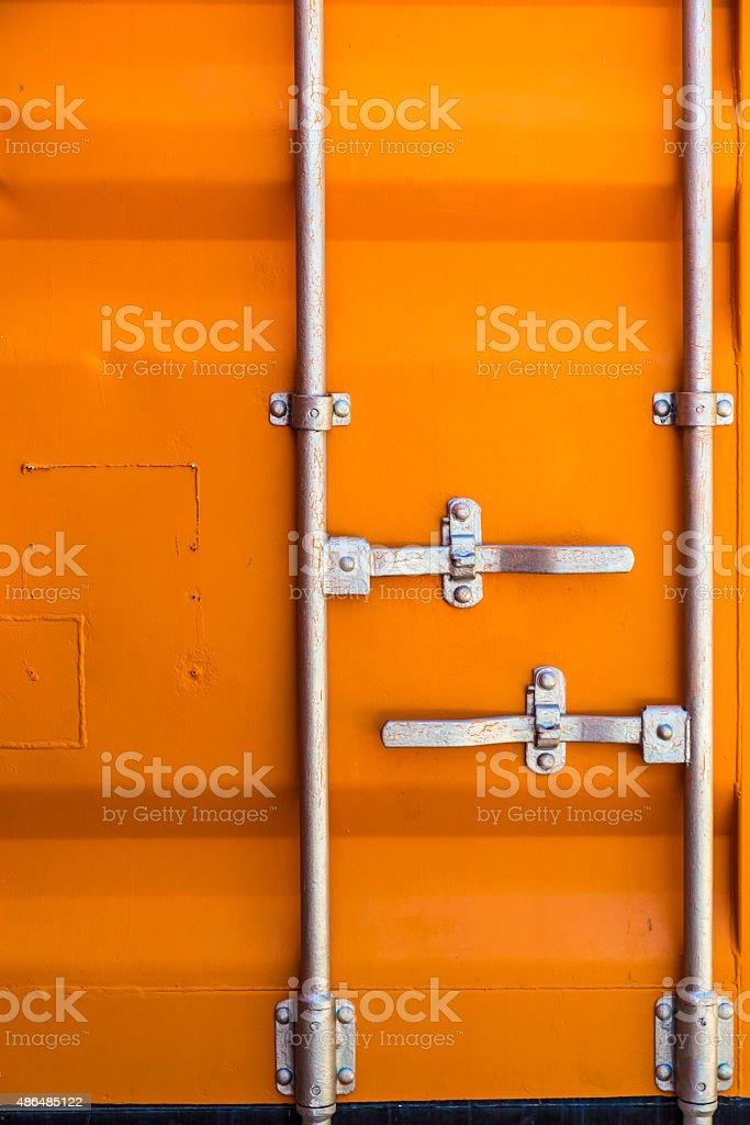 Texture of a Cargo Container stock photo