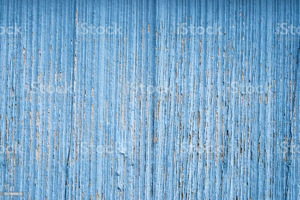 texture of a wood, blue panel as background stock photo