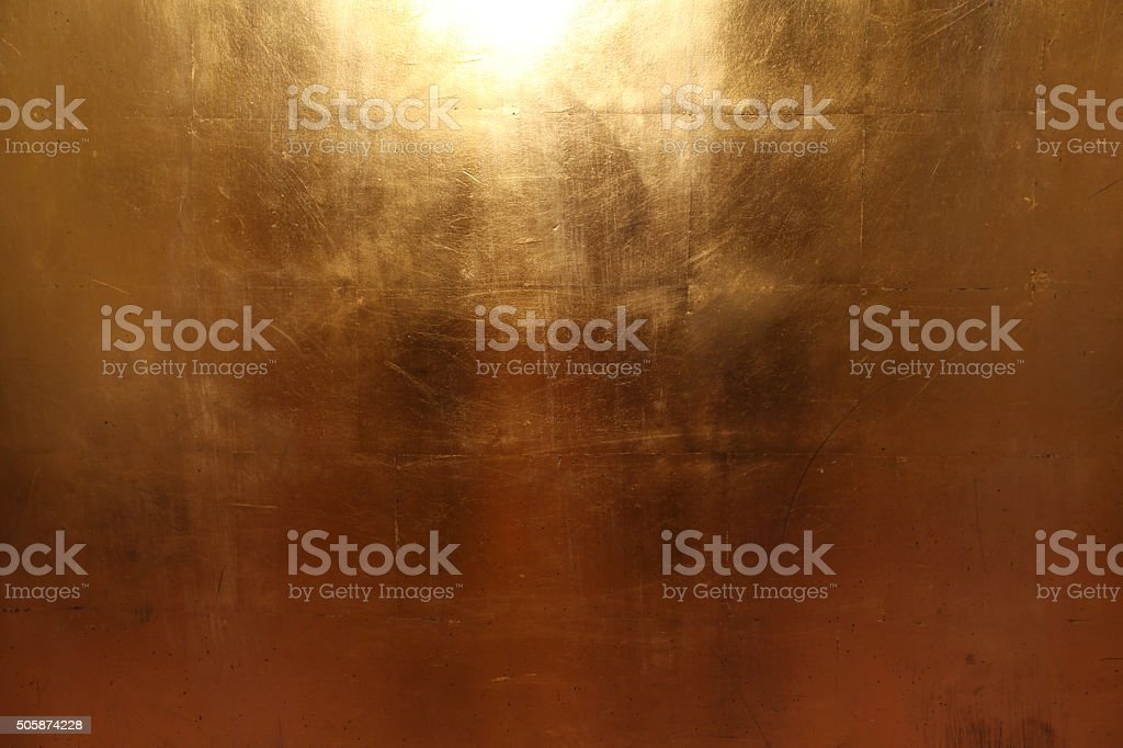 Texture of an gold metall plates stock photo
