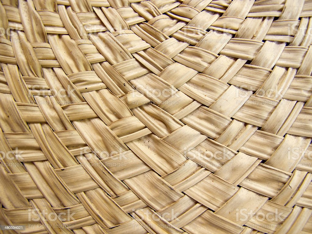 Texture of bamboo weave curve royalty-free stock photo