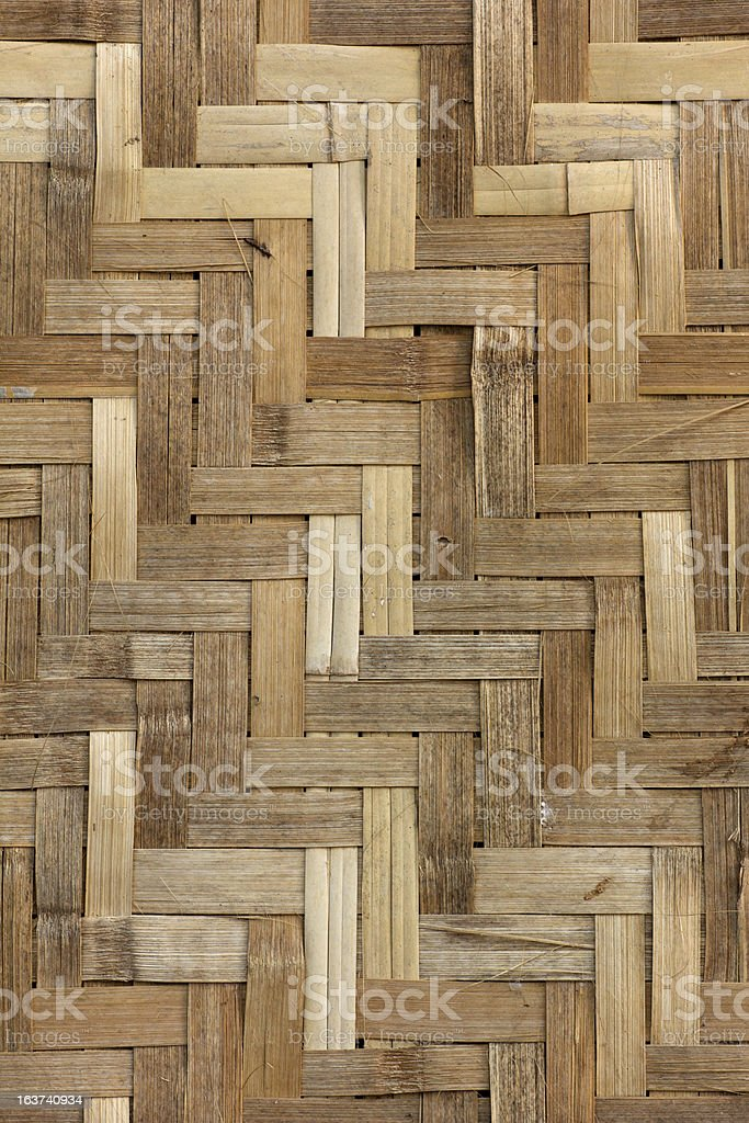 Texture of bamboo Weave royalty-free stock photo