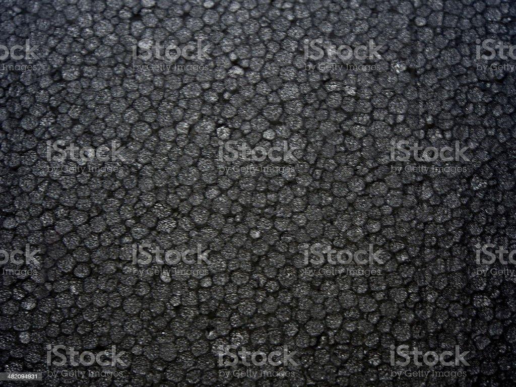 Texture of black foam stock photo