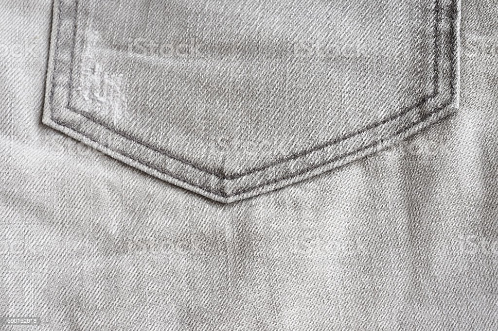Texture of black jeans pocket royalty-free stock photo