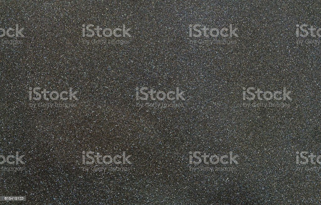Texture of black sponge with glitter from speaker stock photo