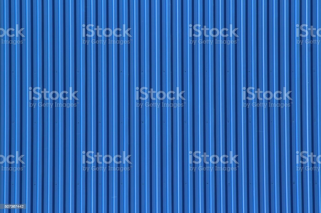 Texture of Blue Corrugated iron stock photo