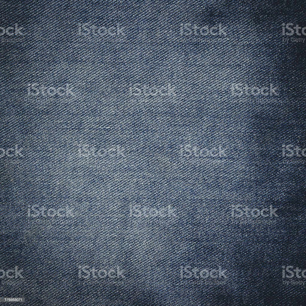 Texture of blue jeans  close up stock photo