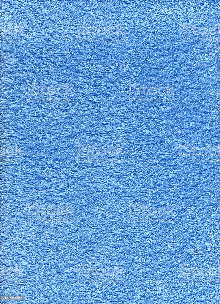 Texture of blue terry cloth towel royalty-free stock photo
