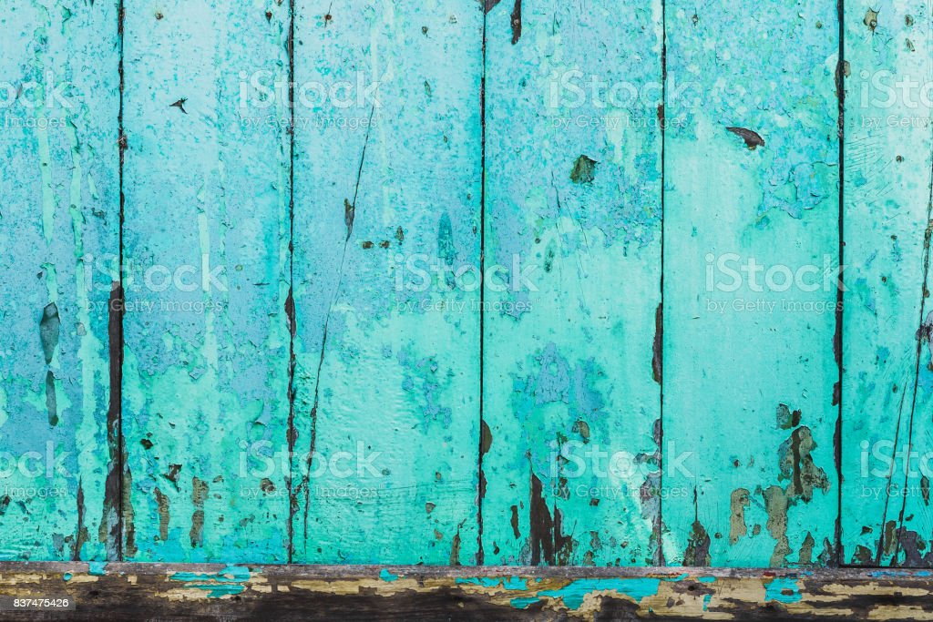 Texture of blue wooden panited wall. Old and rural stock photo
