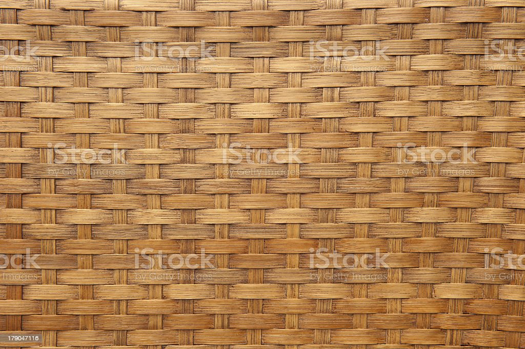 Texture of brown woven bamboo royalty-free stock photo