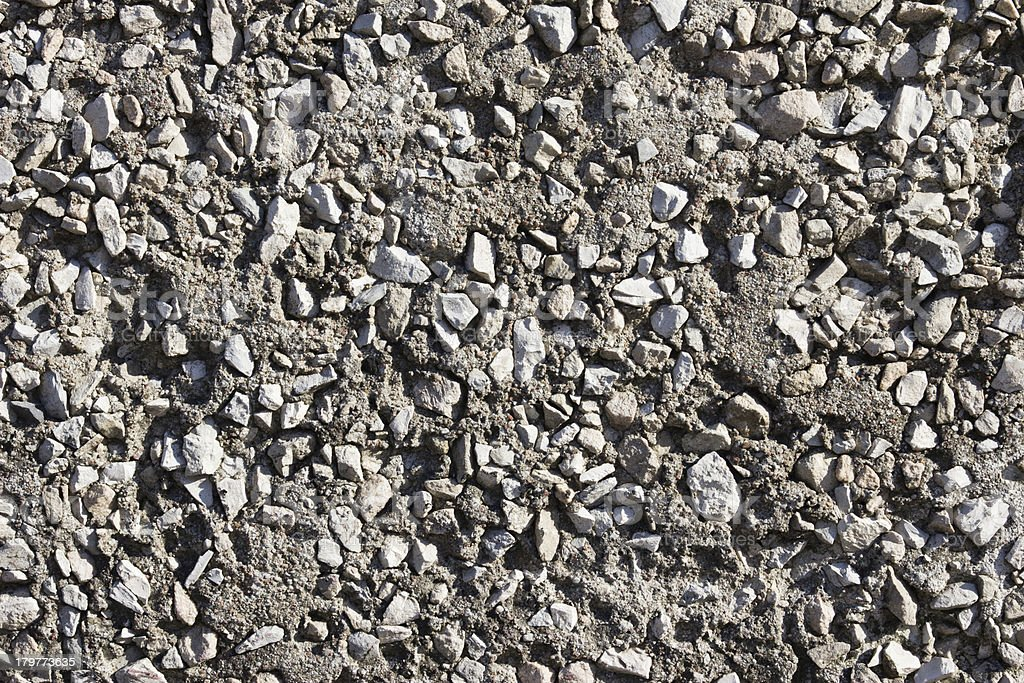 Texture of cement with gravel stock photo