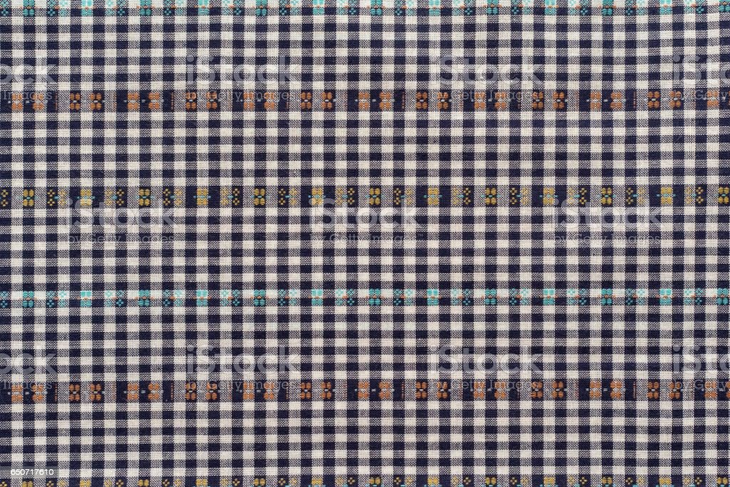 texture of checkered fabric stock photo