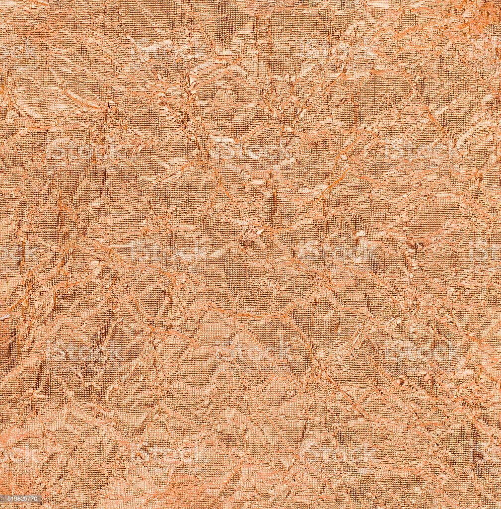 texture of Copper sheets is rumpled stock photo