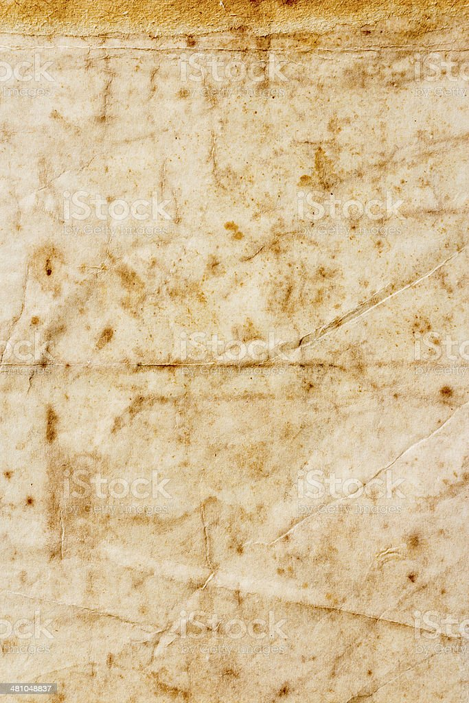 texture of dirty and crumple old paper stock photo