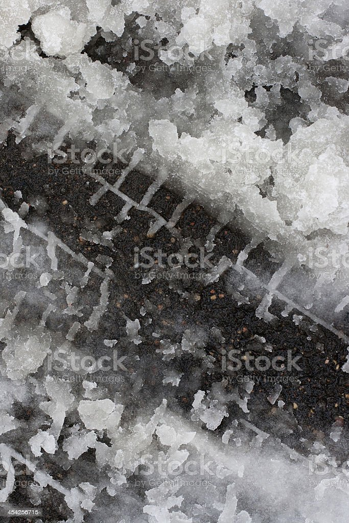 texture of dirty wet snow stock photo