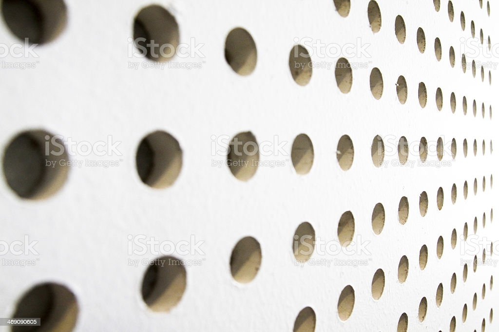 texture of dot on soundproof wall stock photo
