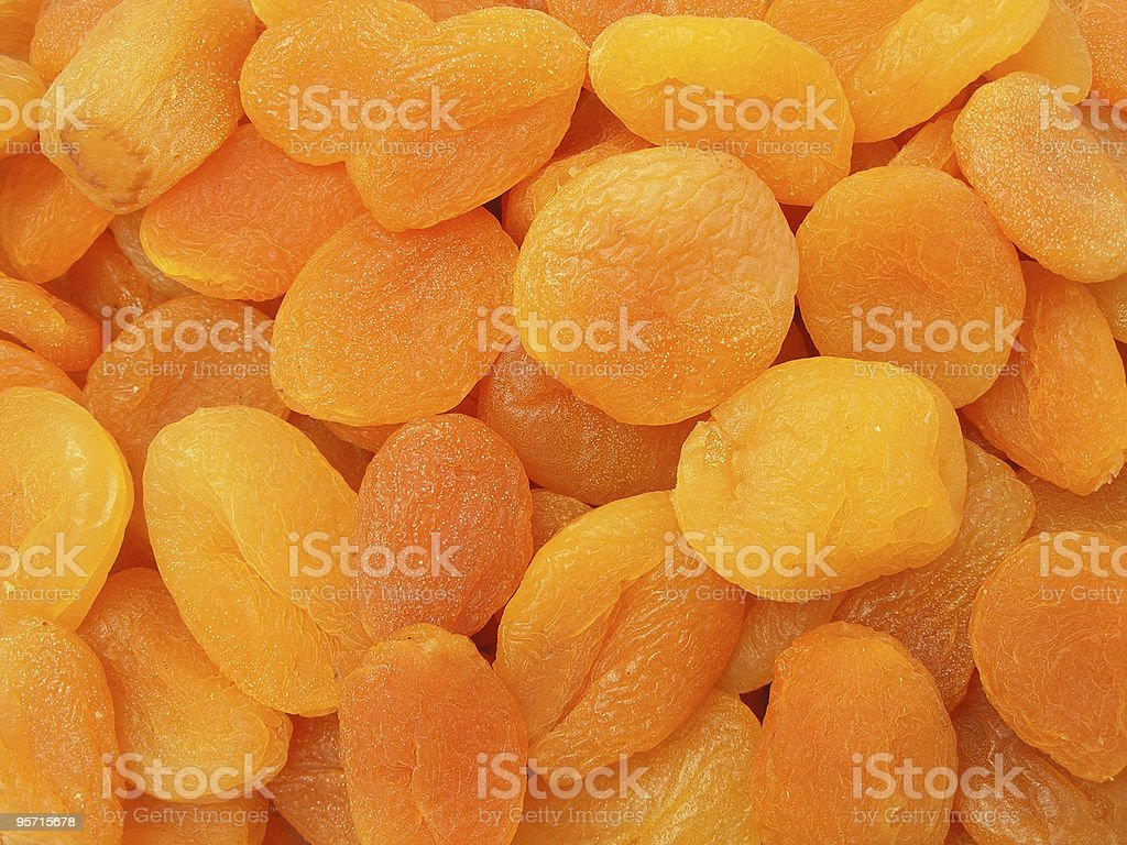 Texture of dried apricots stock photo