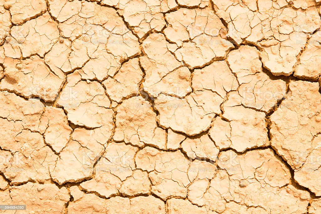 texture of dry crackled soil dirt or earth during drought. stock photo