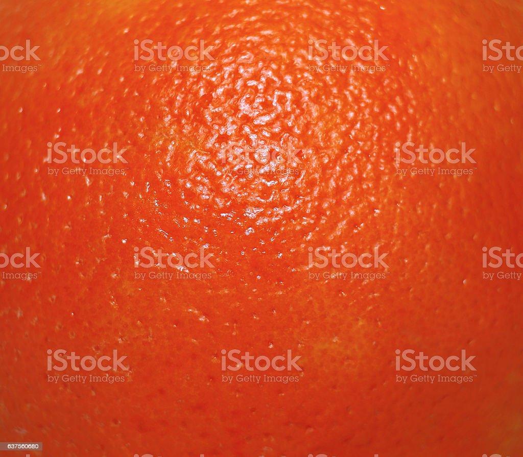 Texture of fresh red orange peel zest stock photo