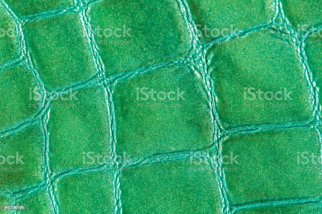 Texture of genuine leather close-up, embossed under the skin a crocodile. For modern pattern, wallpaper or banner design, place for your text stock photo