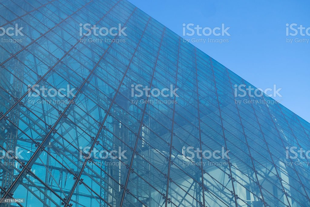 Texture of glass building stock photo