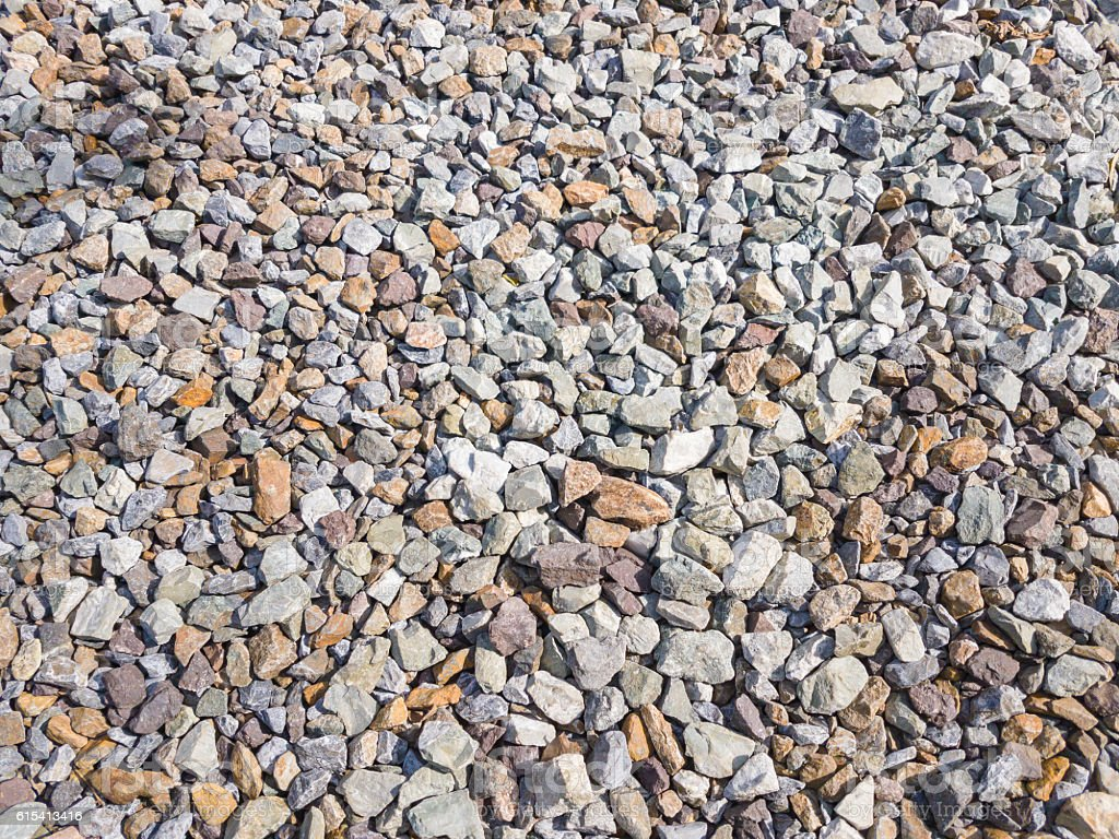 Texture of Granite Gravel Rock Found at some Railroad Tracks stock photo