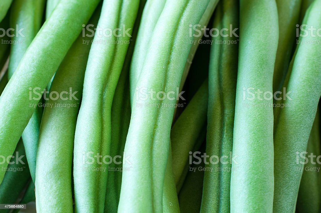 Texture of Green beans stock photo
