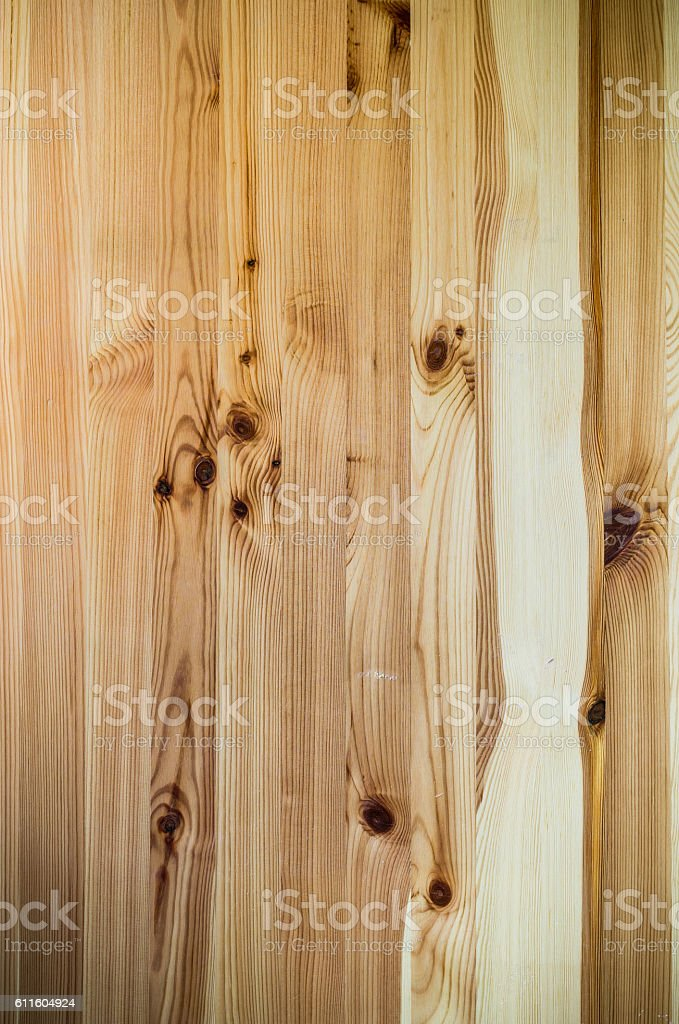 Texture of knotted wood planks stock photo
