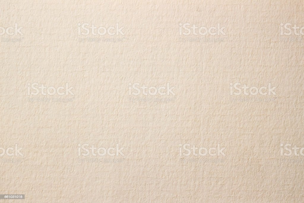 Texture of light cream paper for artwork. Background for design with copy space stock photo