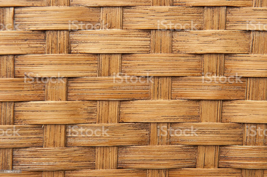 Texture of light woven bamboo royalty-free stock photo