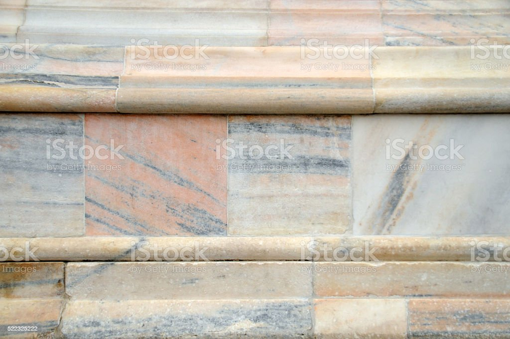 texture of marble of the Duomo in Milan 'Candoglia marble' stock photo