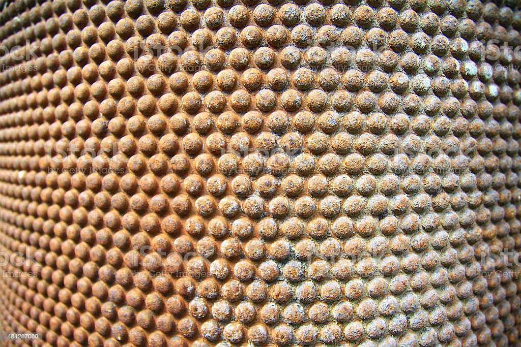 texture of metal, corrosion. rusty balls background stock photo