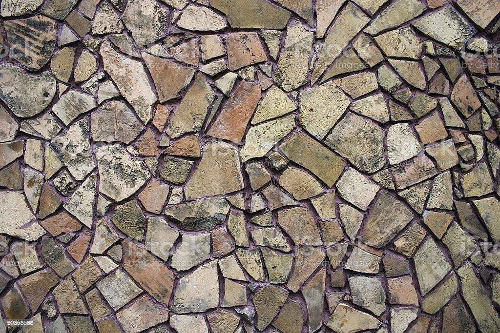 Texture of mosaic wall stock photo